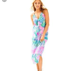 Lilly Pulitzer Lachelle silk midi dress NWT